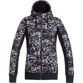 Roxy Frost Printed Fleece Top Women, true black izi